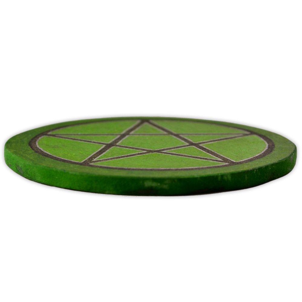 Pentáculo 10cm - Verde e Preto