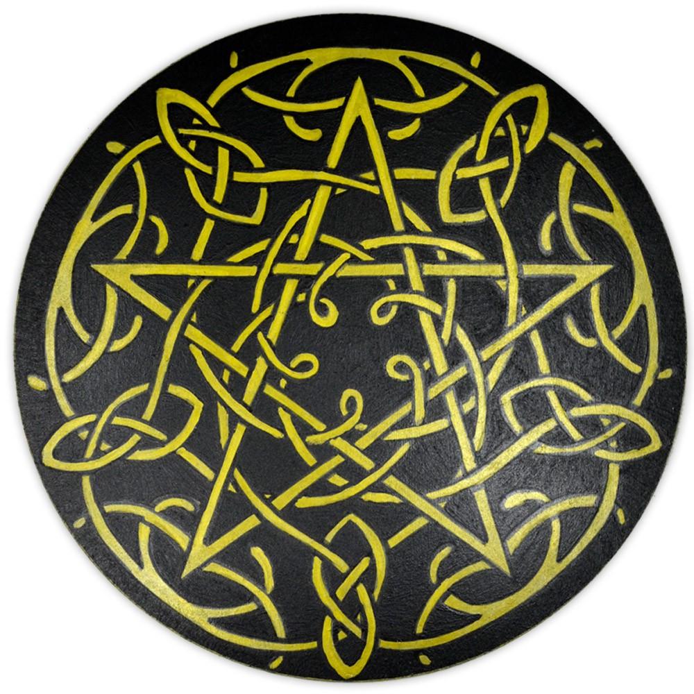 Pentáculo 20cm - Dourado