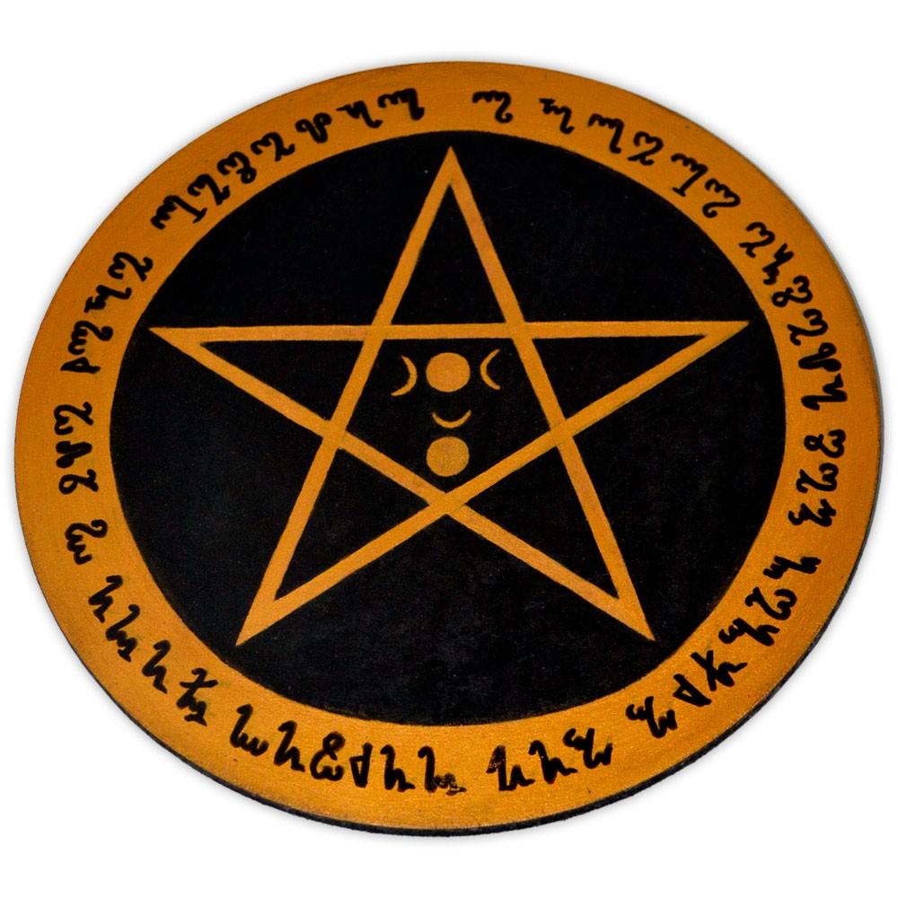 Pentáculo 20cm amarelo - Lei Wicca