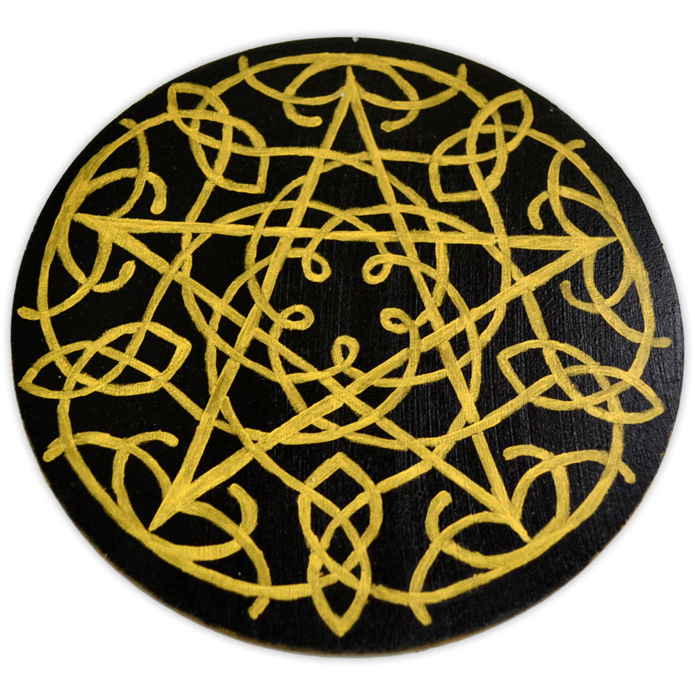 Pentáculo nó celta dourado P 10 CM