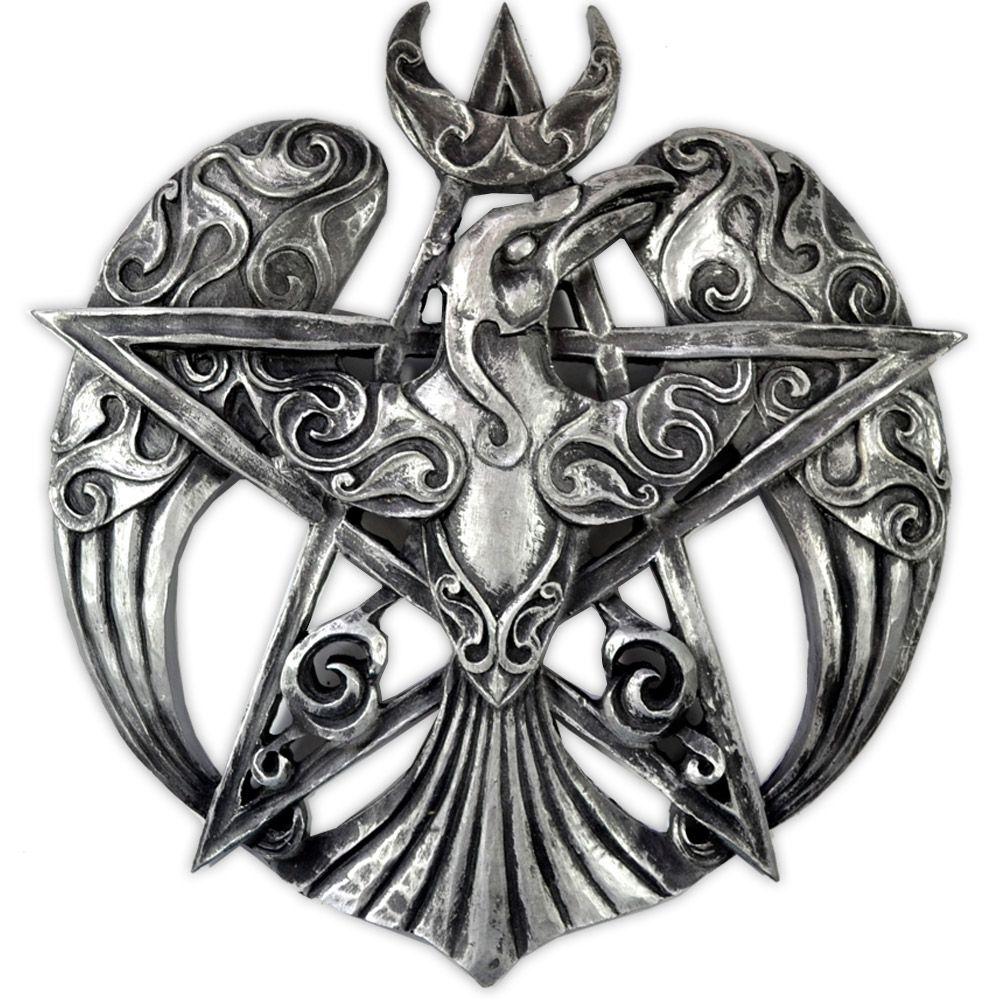 Pentagrama Corvo - Prateado