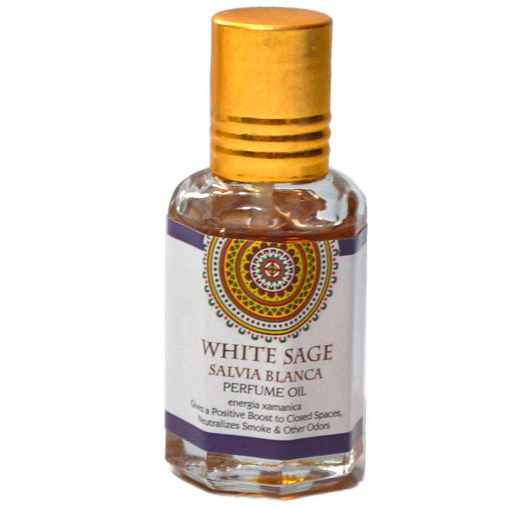 Perfume Indiano Sálvia Branca - Energia Xamânica