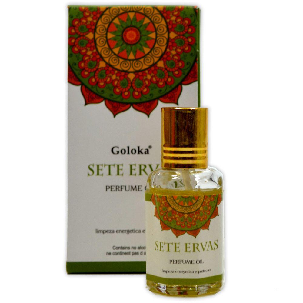 Perfume Indiano Sete Ervas - Limpeza Energética e Proteção
