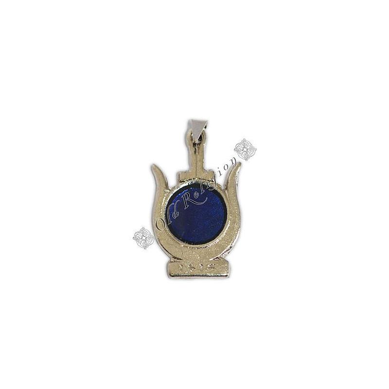 Pingente Coroa de Ísis Prateada - Azul