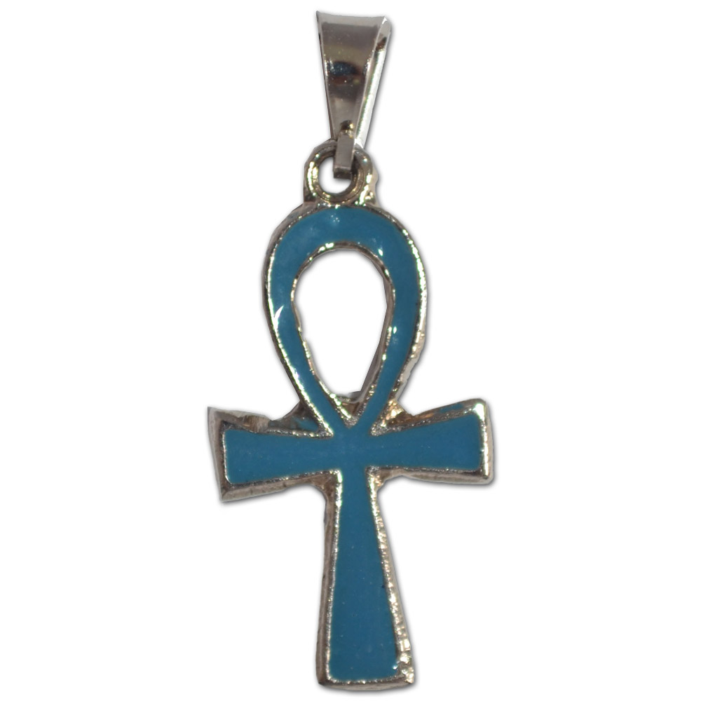 Pingente - Cruz Ansata Azul