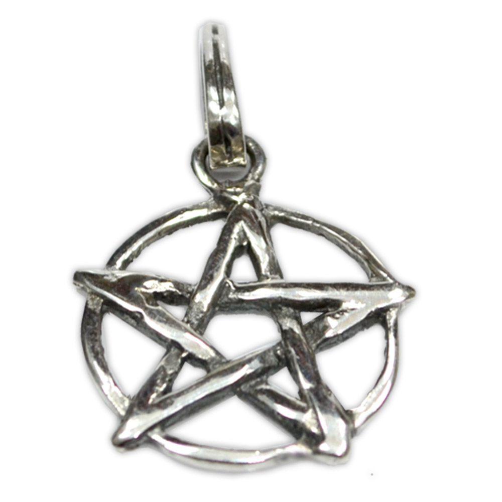 Talismã Wicca Pentagrama, Amuleto de Proteção mod. 16 - Prata 925
