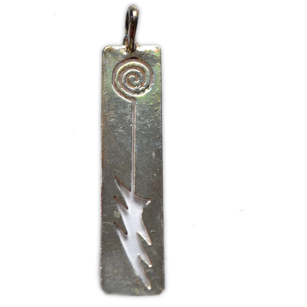 Pingente em Bronze Banhado a Prata - Arma dos Guardiões da Luz