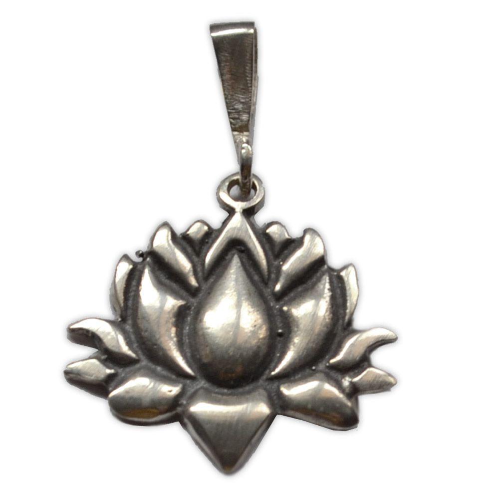 Pingente  (Prata 950) - Flor de Lótus 3cm