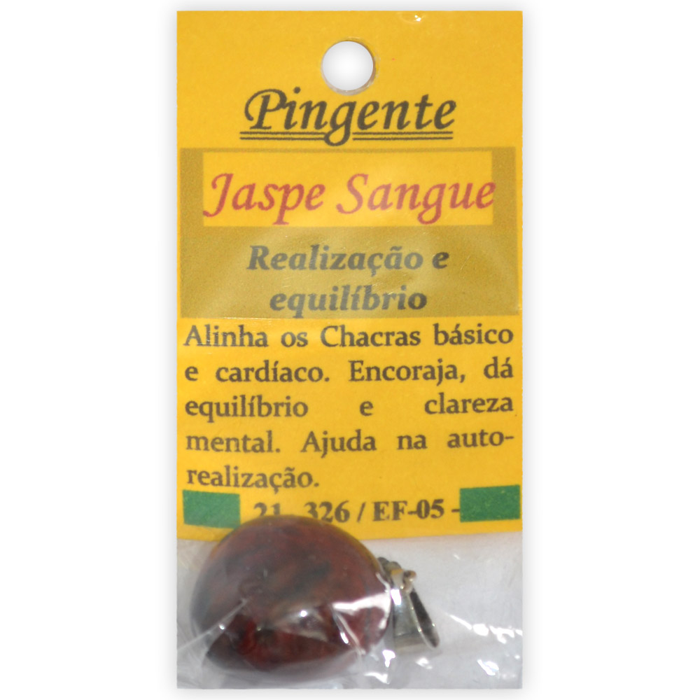 Pingente - Jaspe Sangue