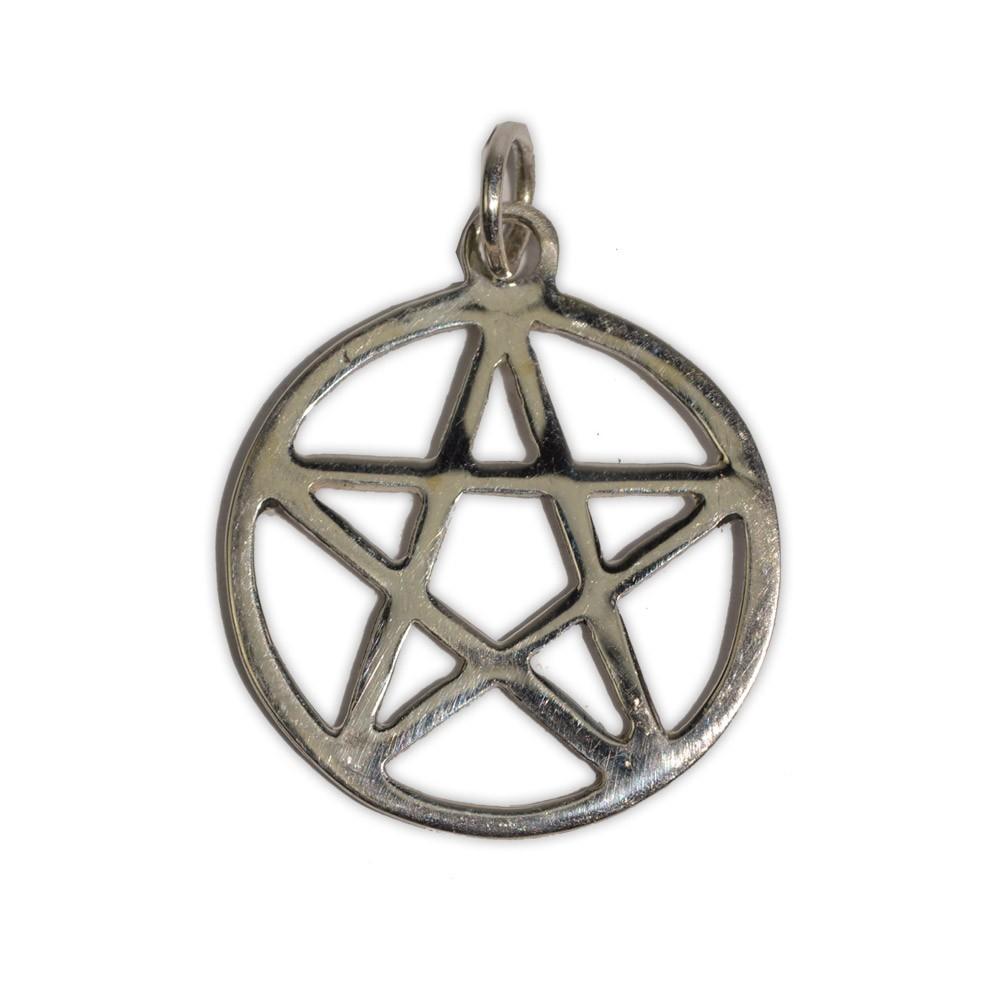 Pingente Pentagrama 3cm (Prata 950)