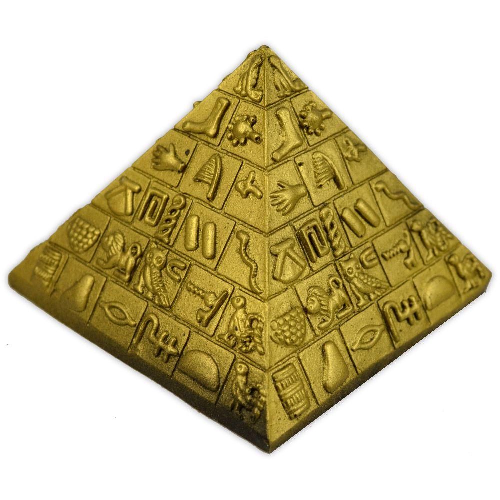 Pirâmide Egípcia Peq - Dourado