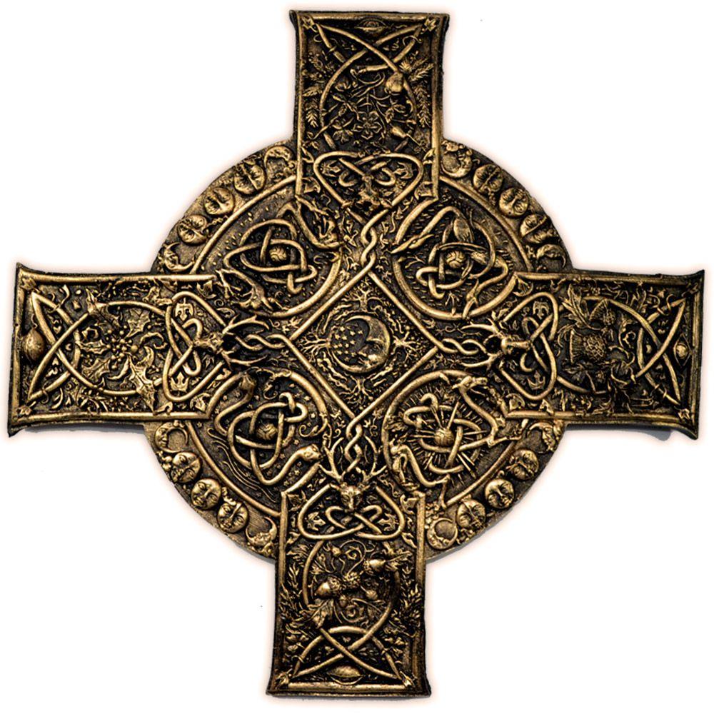 Placa Cruz Celta - Dourado