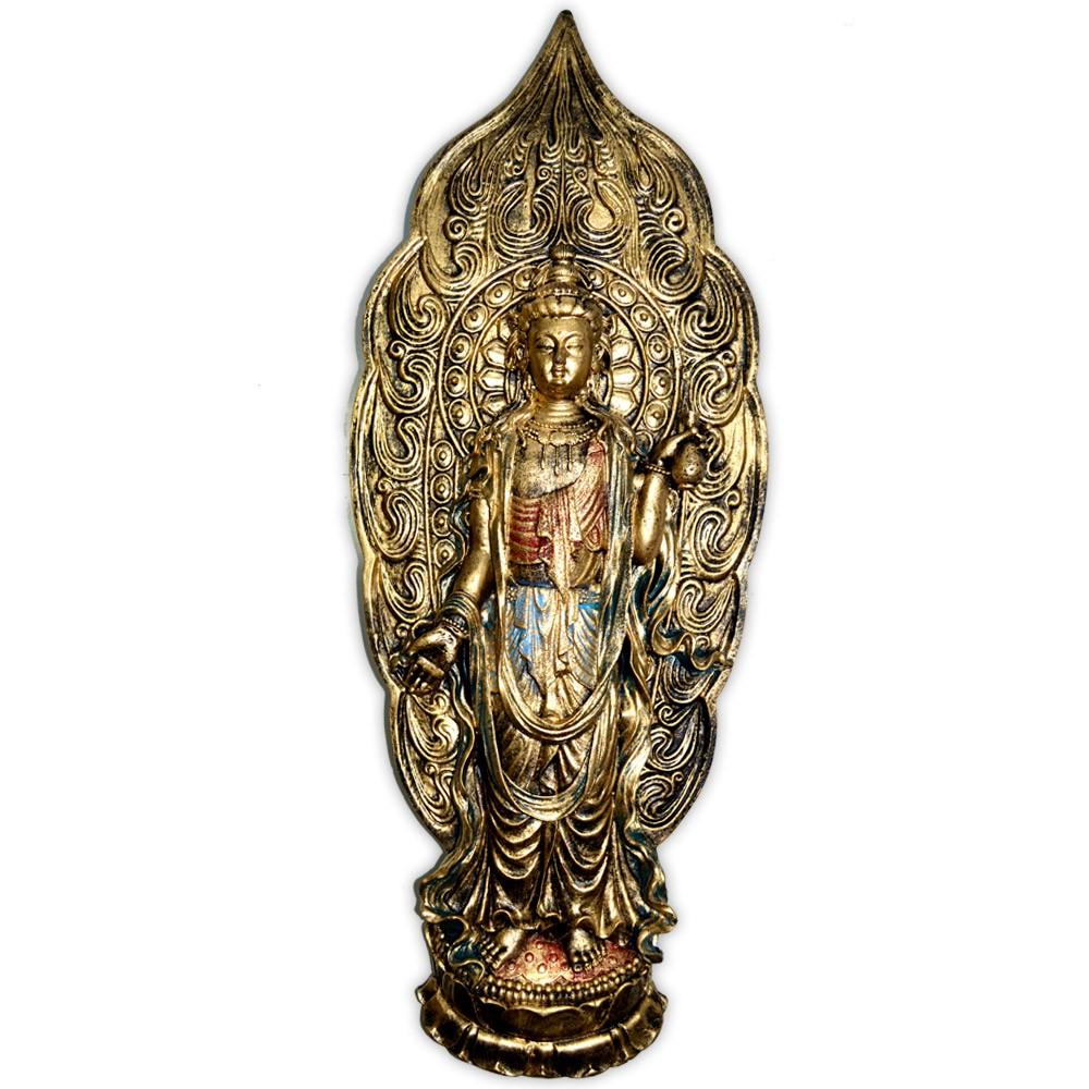 Placa Kuan Yin - Dourado