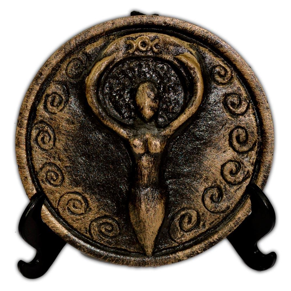 Plaquinha para Altar Deusa - dourada