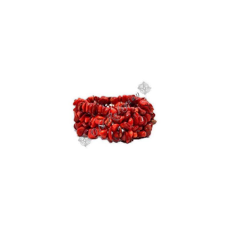 Pulseira de Pedras Naturais - Pedra Coral