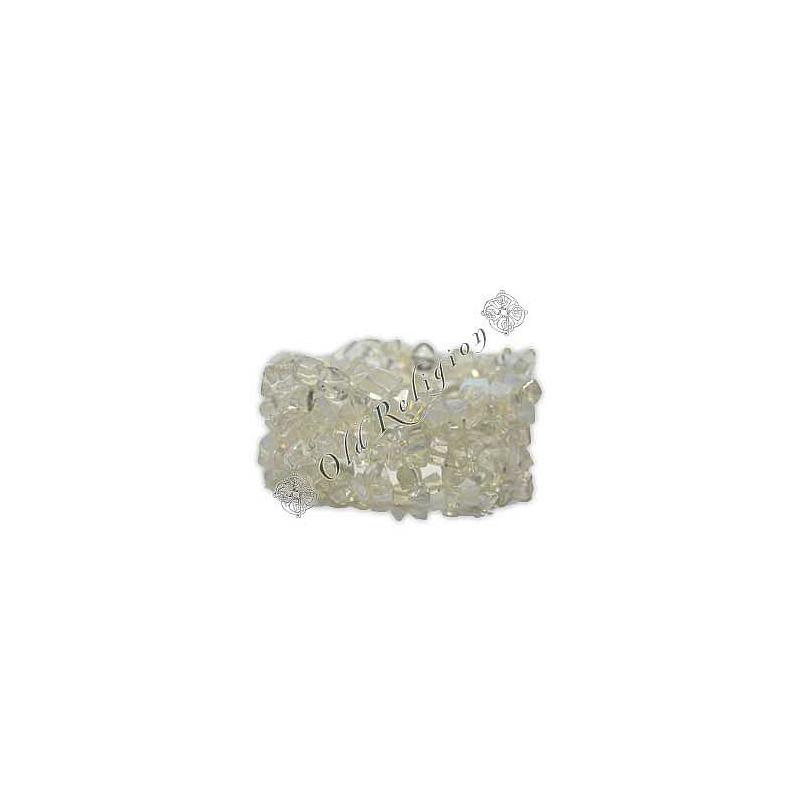 Pulseira de Pedras Naturais - Quartzo Transparente