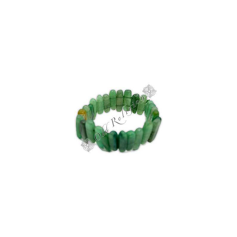Pulseira de Pedras Naturais - Quartzo Verde