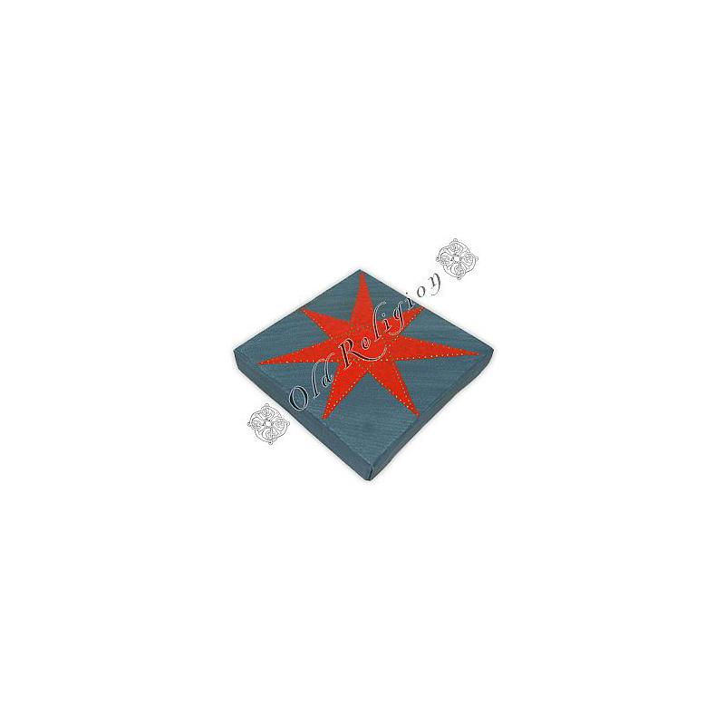 Quadro Estrela de 7 Pontas Azul