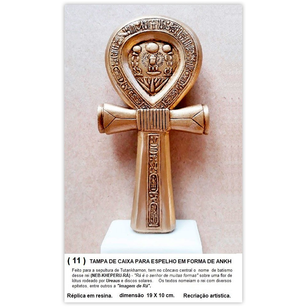 Réplica Museu Egípcio - Cruz Ansata de Tutankhamon