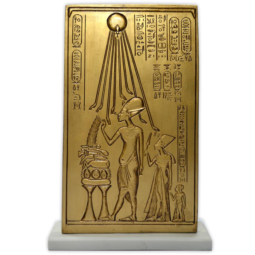Réplica Museu Egípcio - Placa Akhenaton