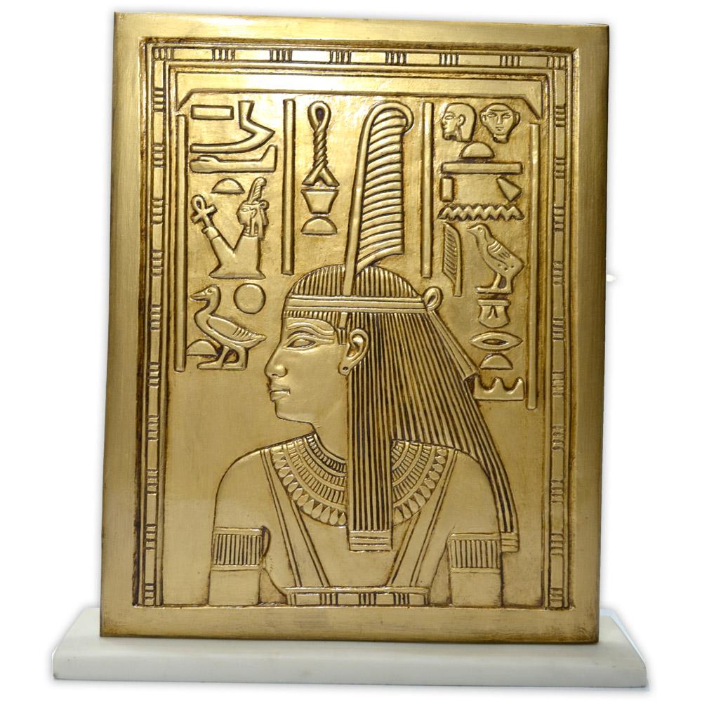 Réplica Museu Egípcio - Placa Deusa Maat