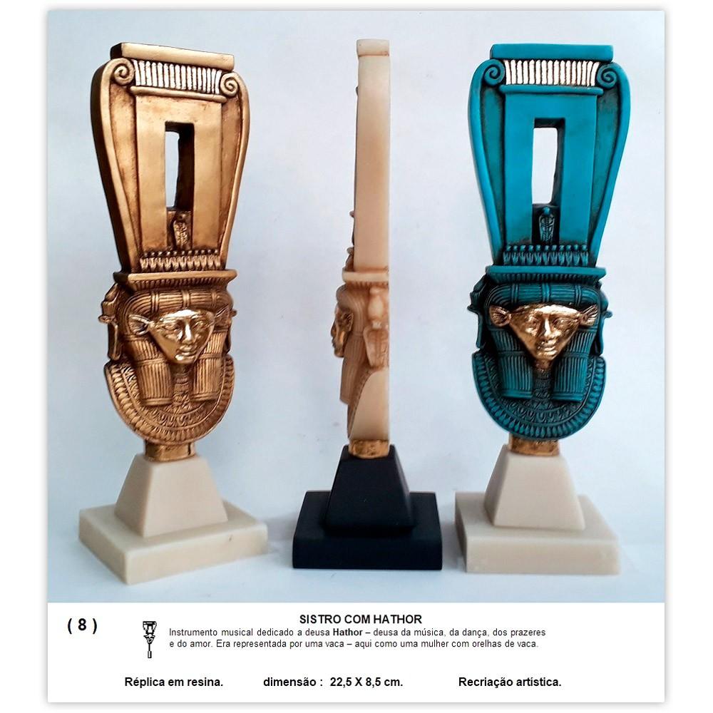 Réplica Museu Egípcio - Sistro com Hathor