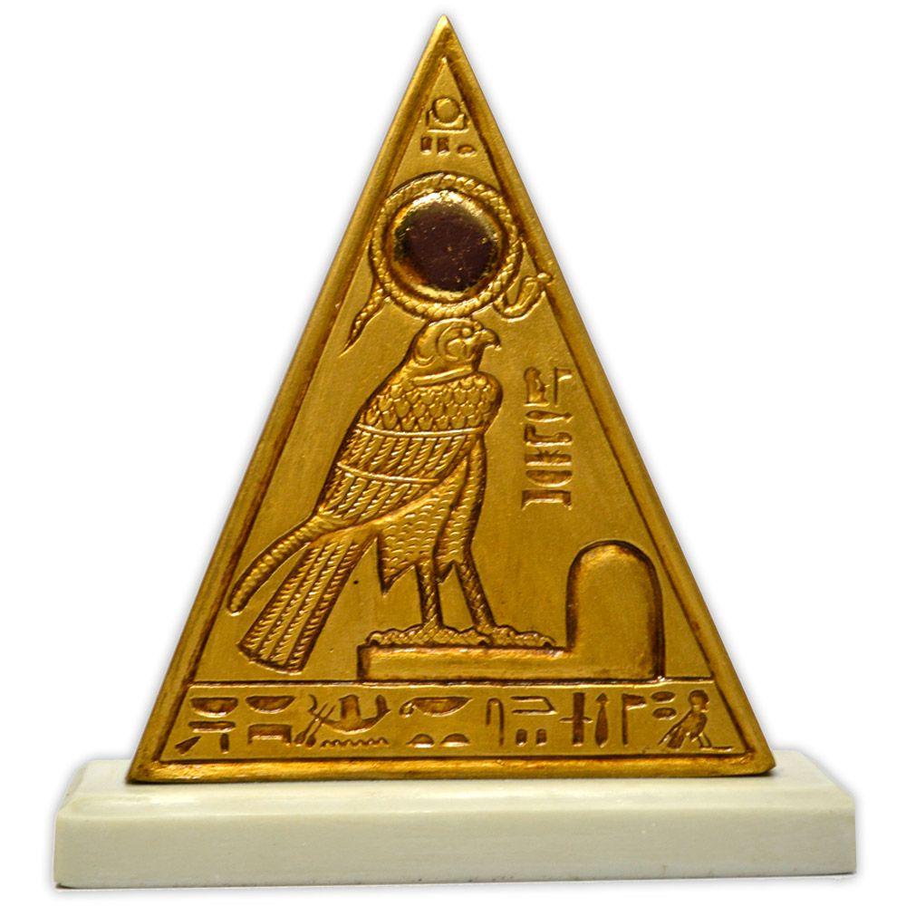 Réplica Museu Egípcio - Piramidion com Rá-Horakhti