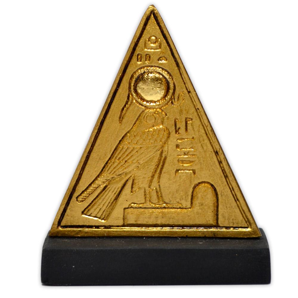 Réplica Museu Egípcio - Mini Piramidion com Rá-Horakhti