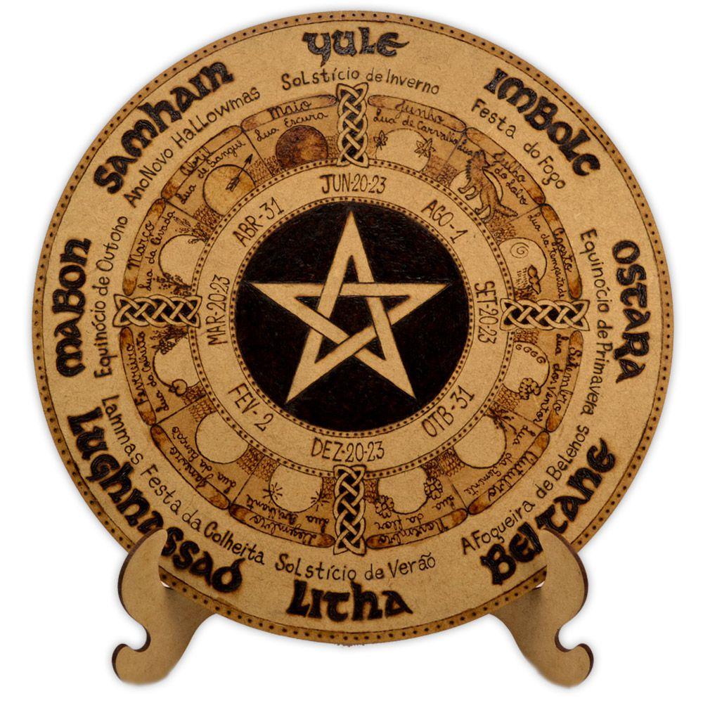 Roda do Ano 25cm com pé - Pentagrama