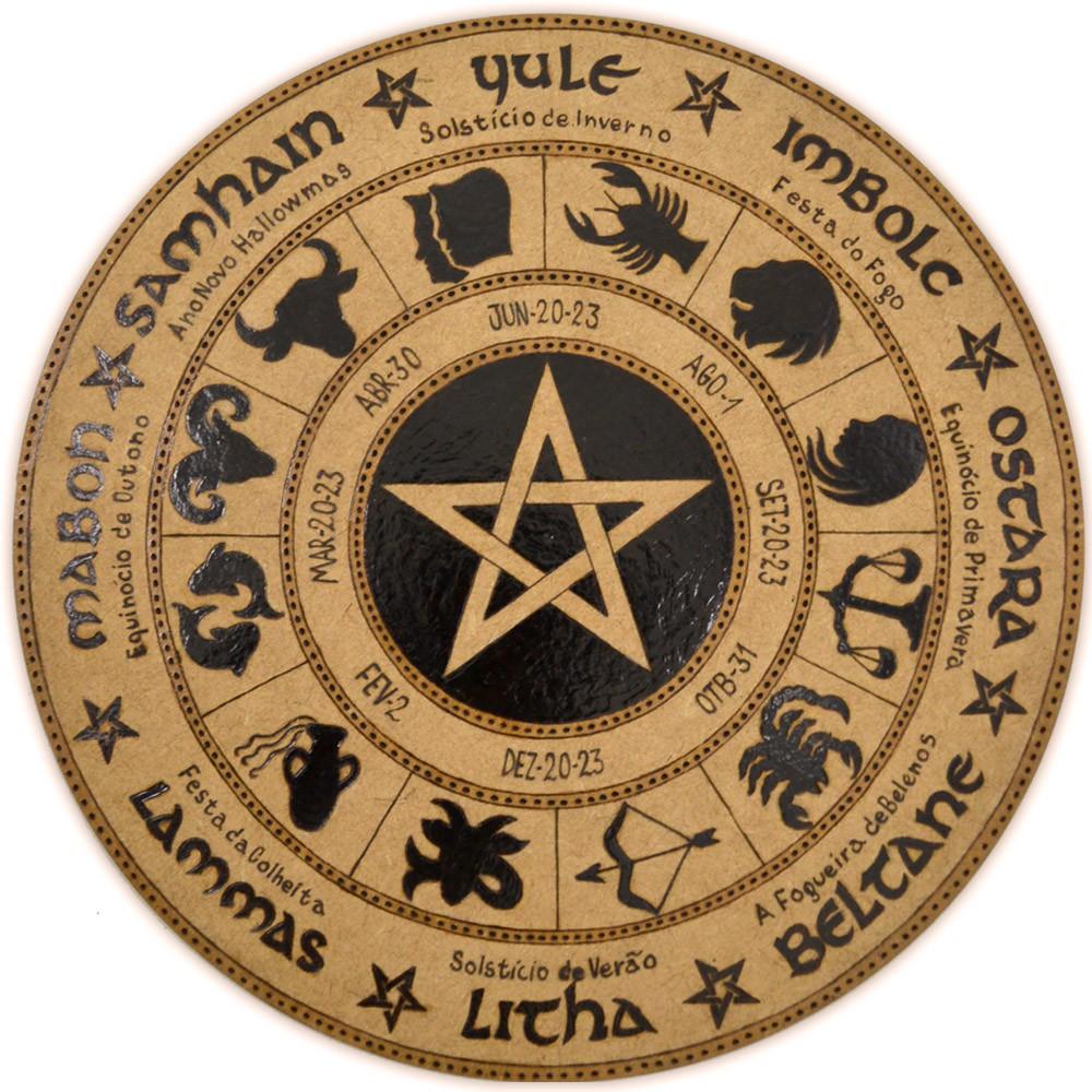 Roda do Ano 25cm - Pentagrama mod. 5
