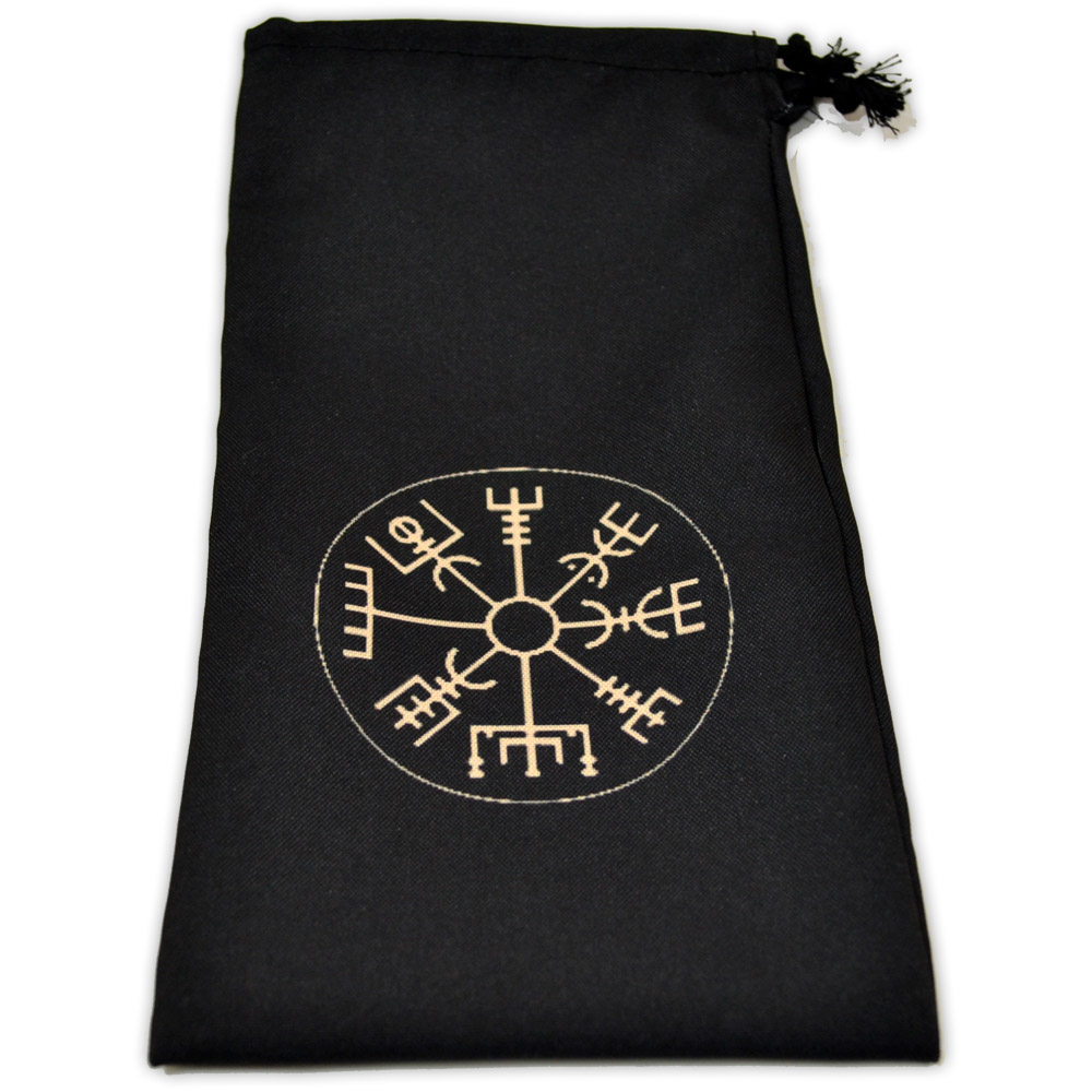 Saquinho para Oráculo Bússola Viking - preto