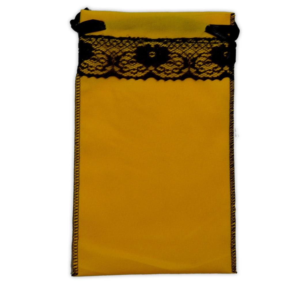 Saquinho para Tarô - Amarelo com Renda