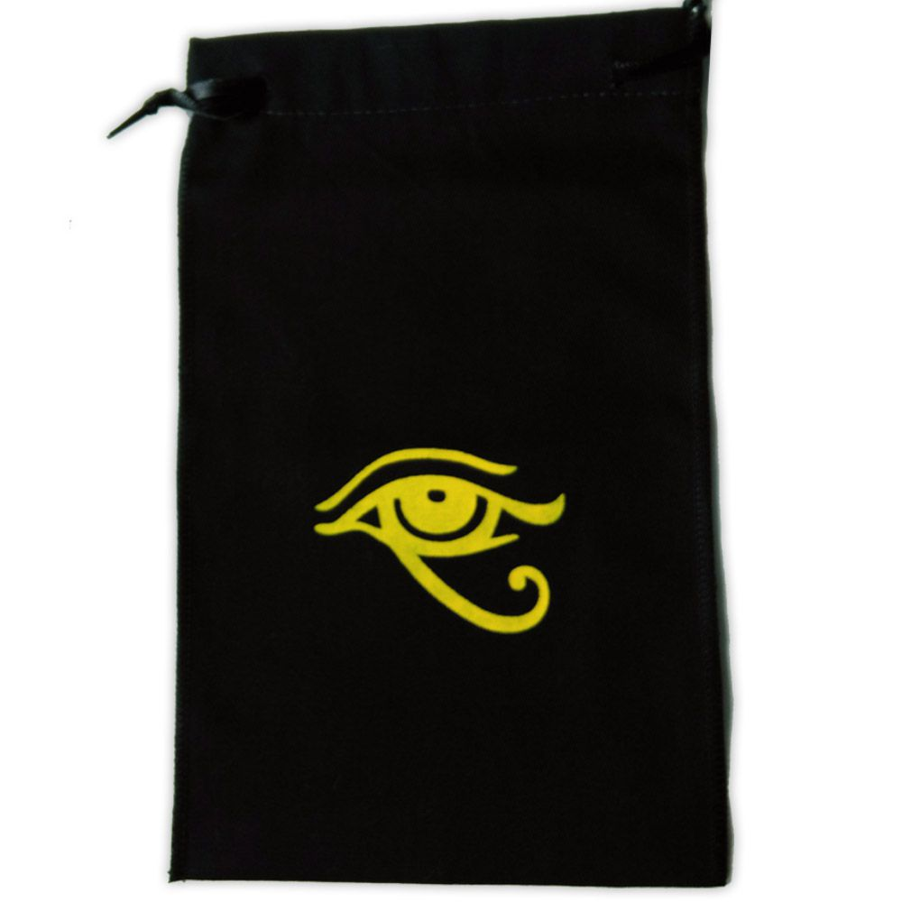 Saquinho para Tarô - Olho de Hórus Preto