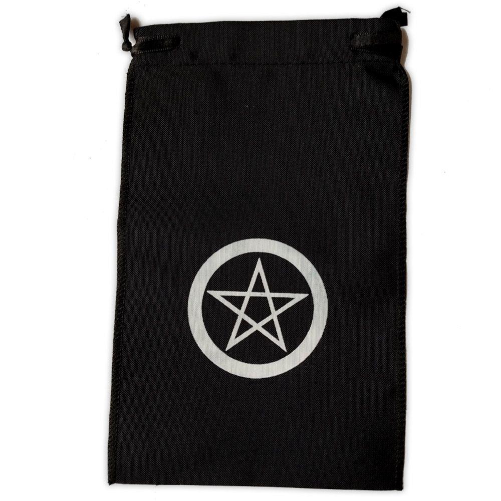 Saquinho para Tarô -  Pentagrama Preto