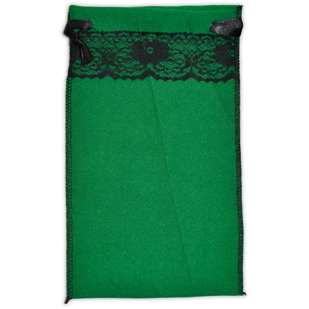 Saquinho para Tarô - Verde com Renda