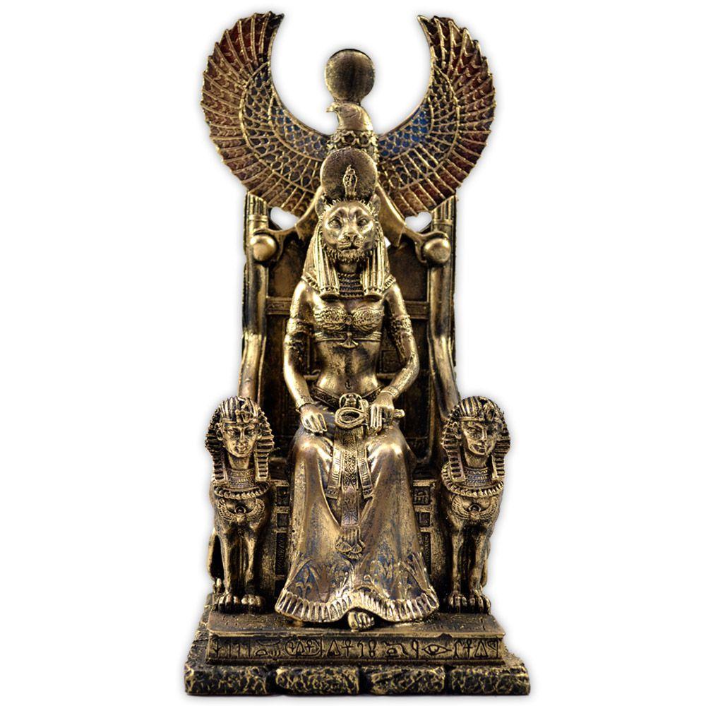 Sekhmet no Trono - Dourada