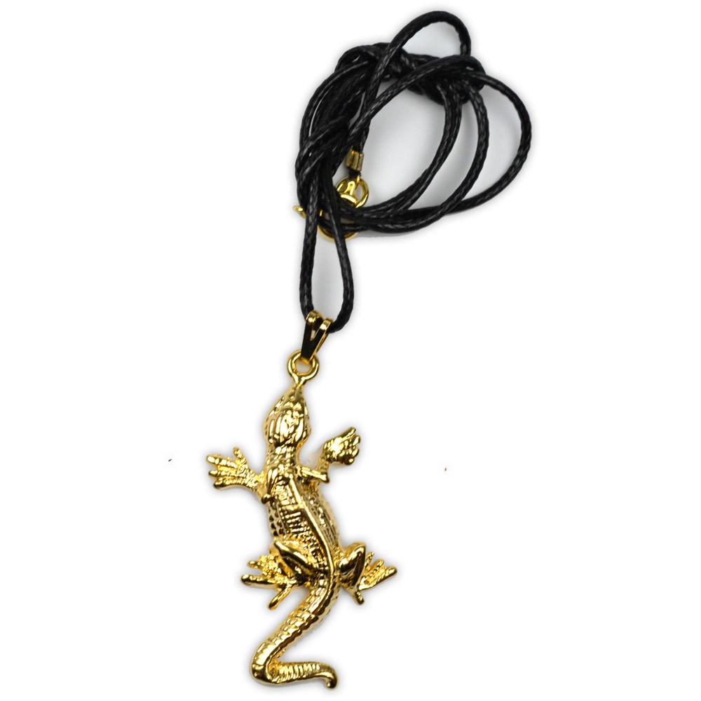 Talismã Colar Salamandra - Dourada com Cordão