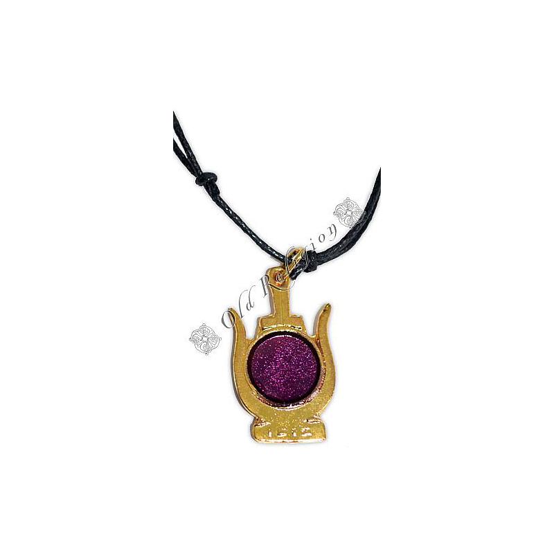 Talismã Coroa de Ísis - Dourado e Roxo