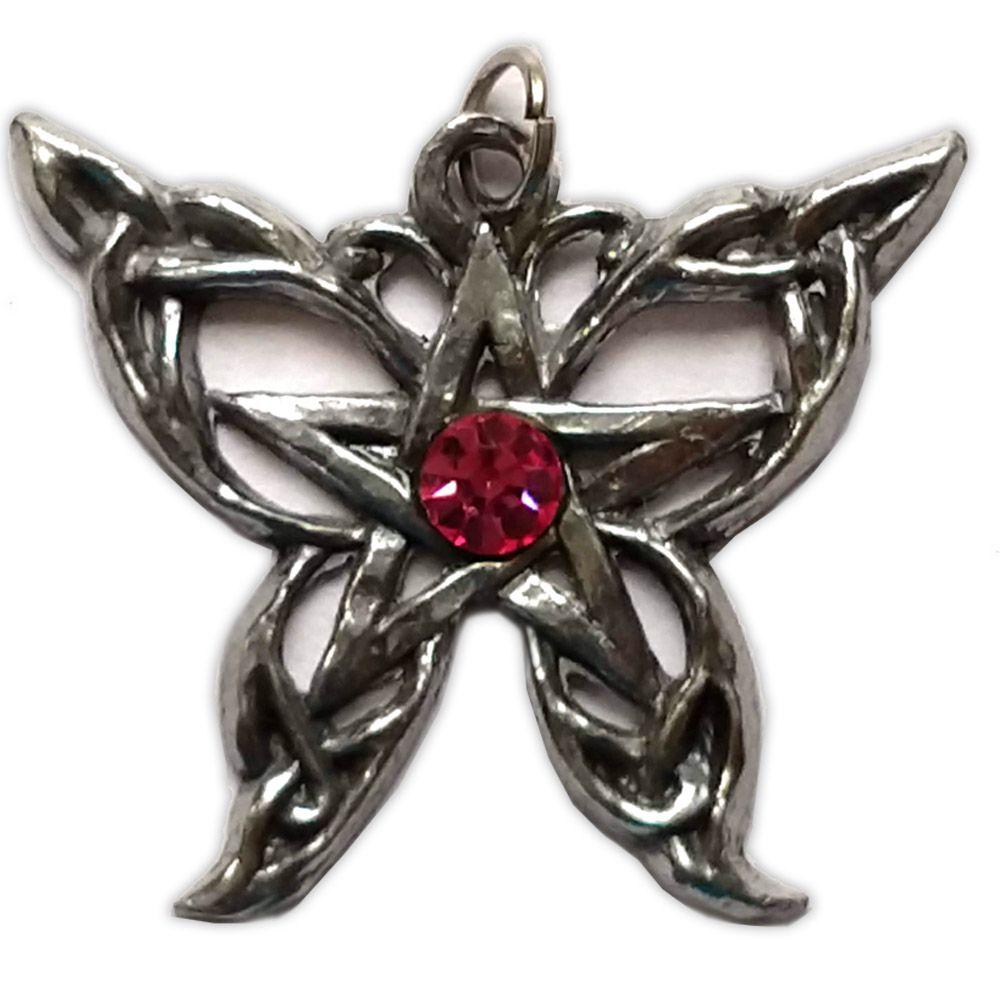 Talismã Pentagrama - Borboleta Swarovski