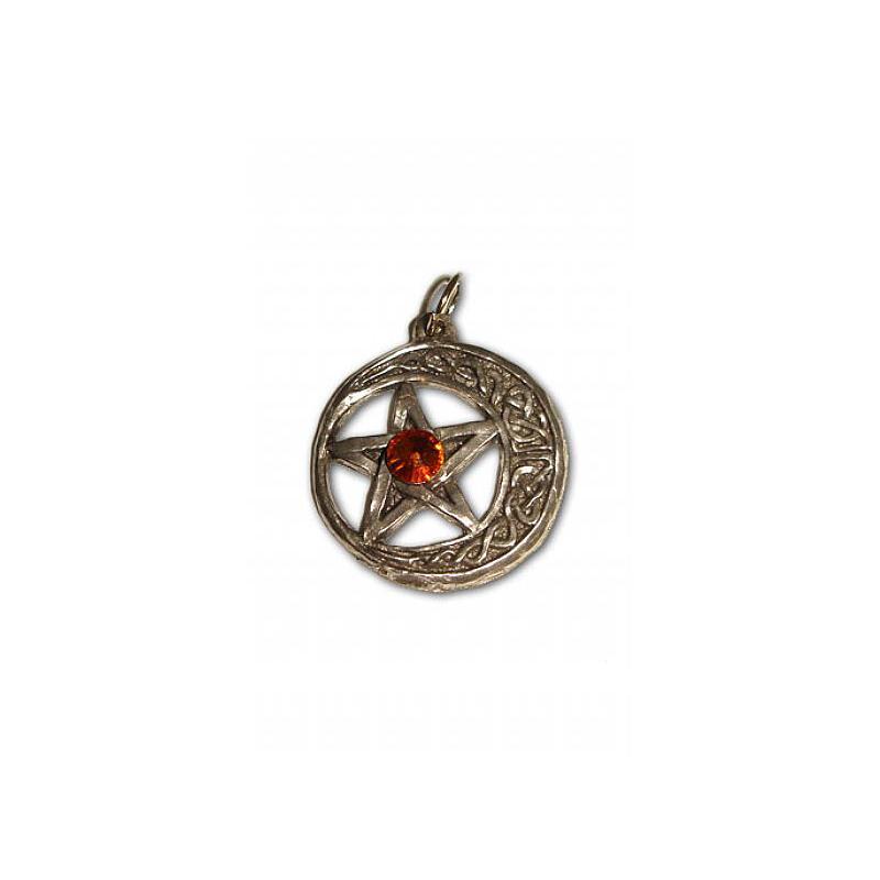 Talismã Pentagrama - Lua Celta Swarovski