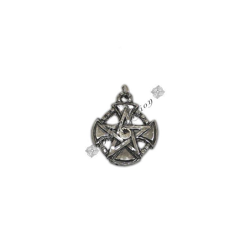 Talismã Pentagrama - Templários Swarovski