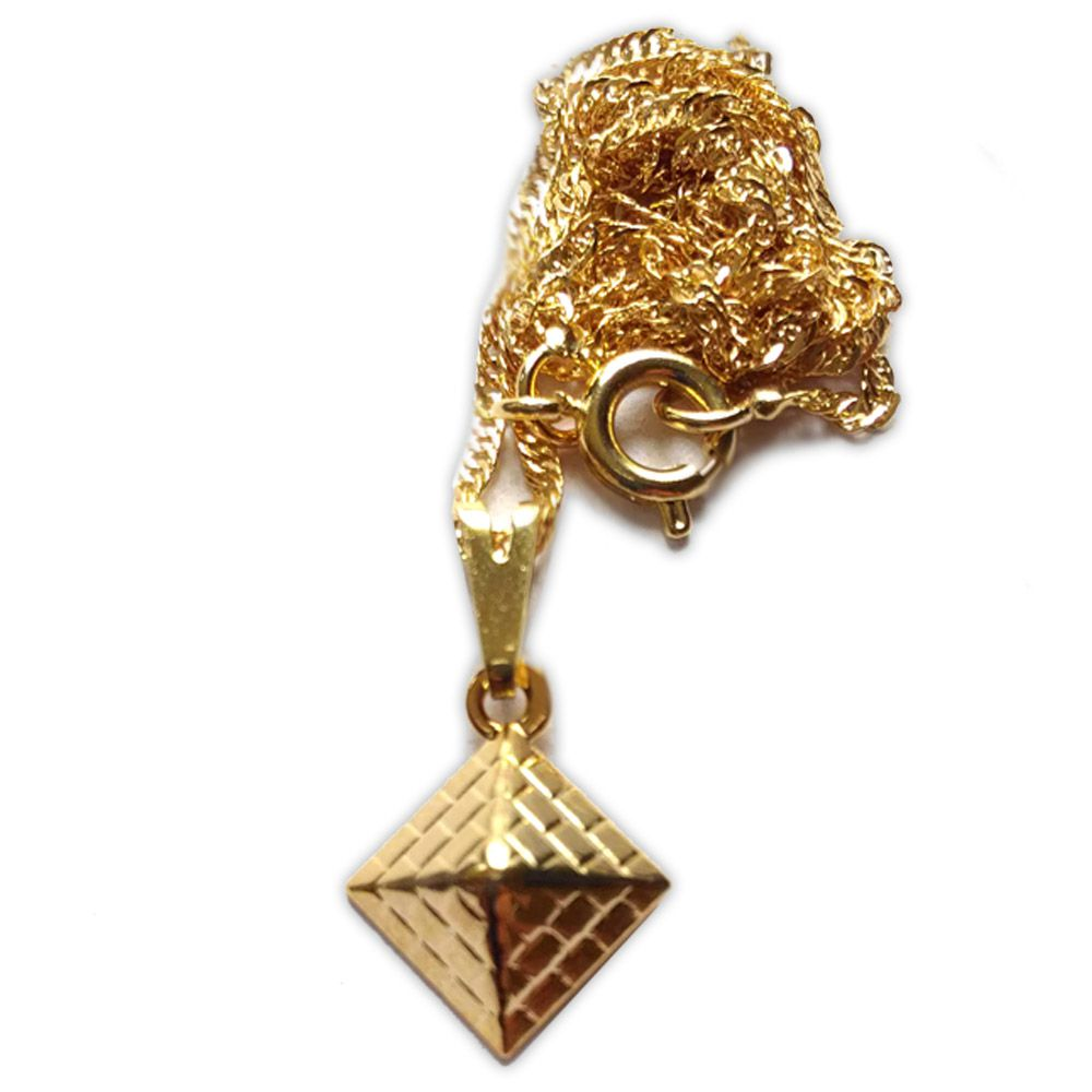 Talismã Colar Pirâmide - Dourado