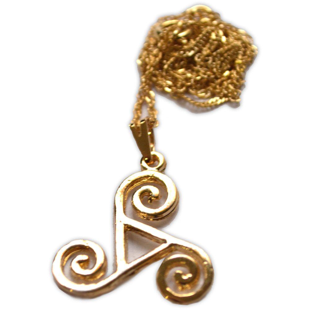Talismã Triskle - Dourado