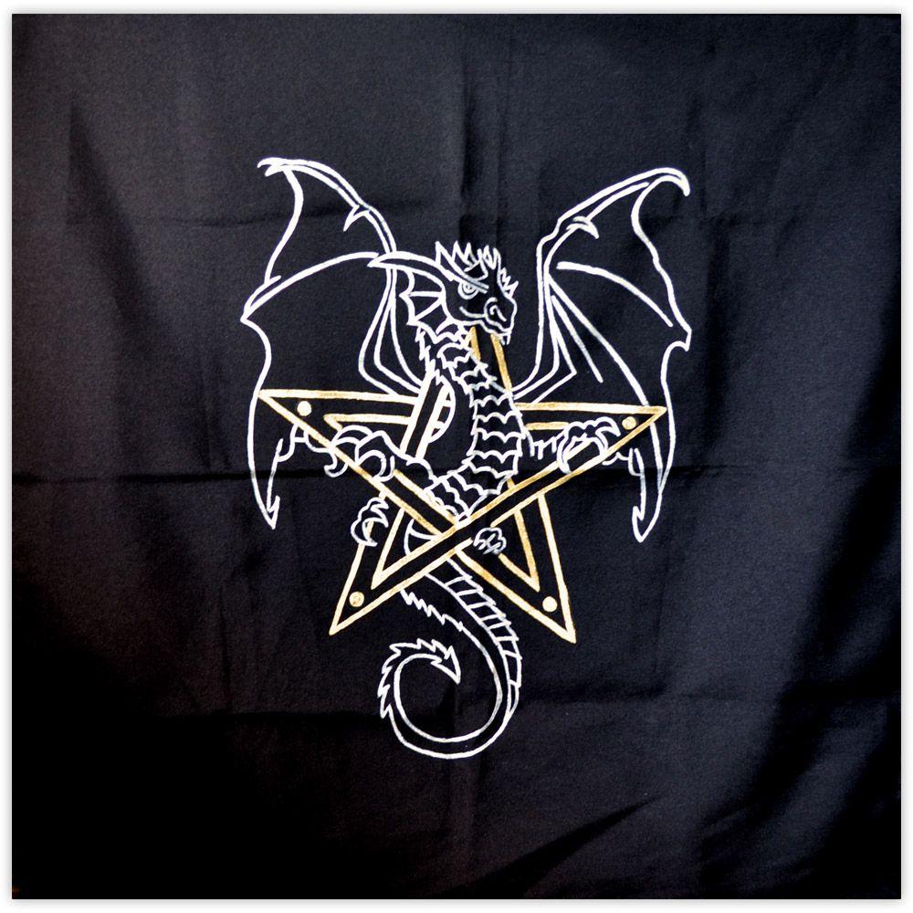 Toalha de Altar - Dragão Prateado
