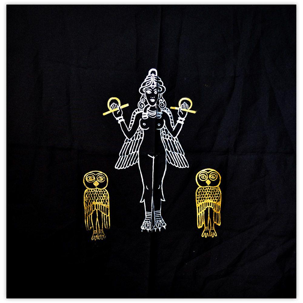 Toalha de Altar - Lilith Dourada