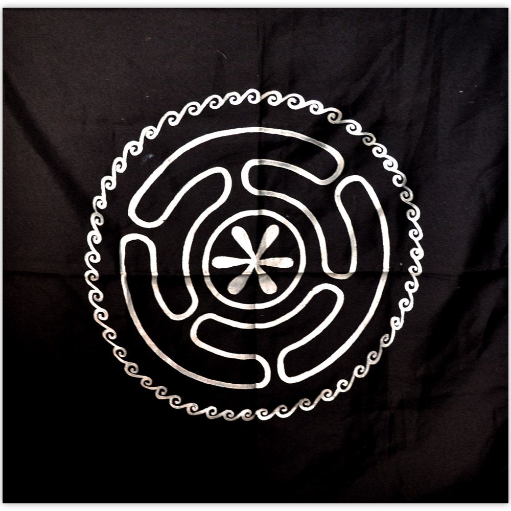 Toalha de Altar - Roda de Hécate Prateado