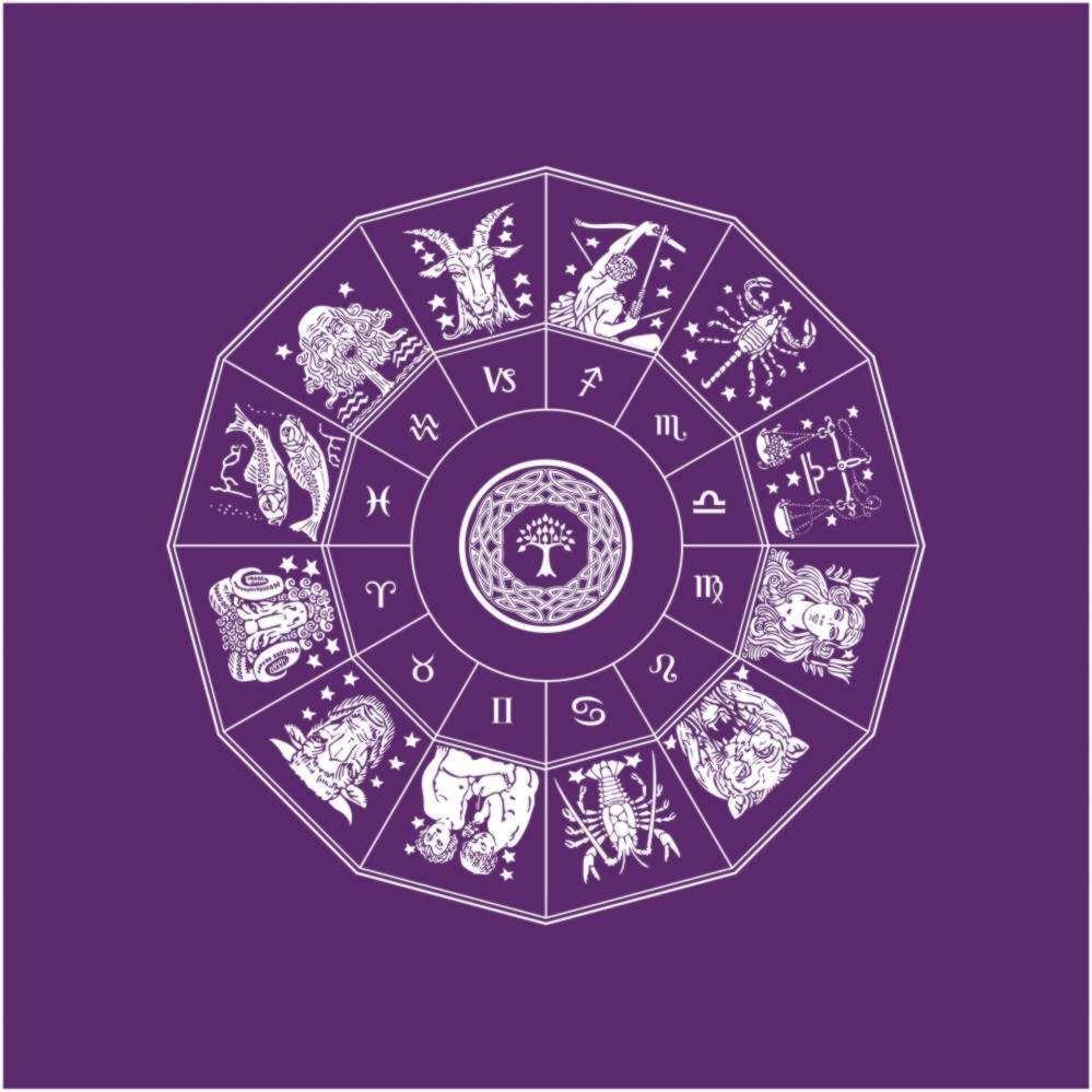Toalha Mandala Astrológica - roxa