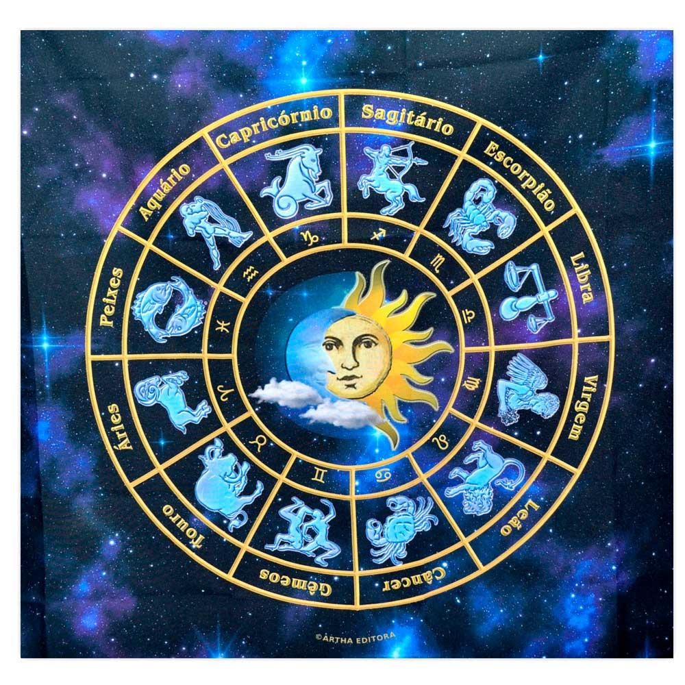 Toalha para Altar e Tarô - Mandala Astrológica