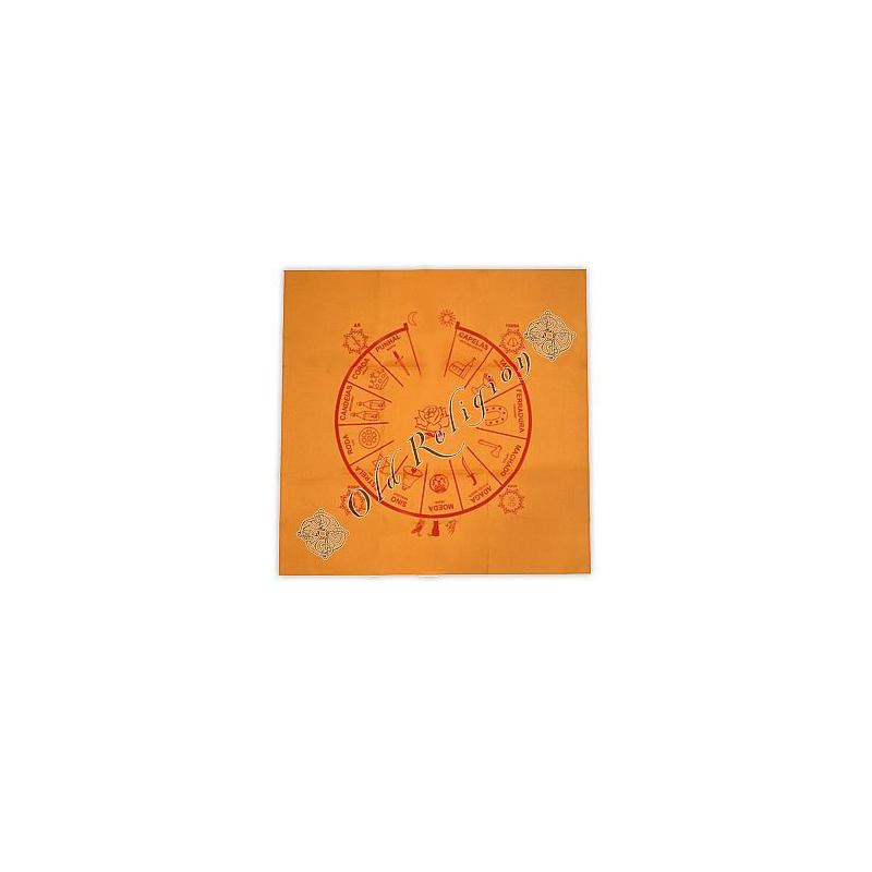 Toalha para Altar e Baralho Cigano - Amarela