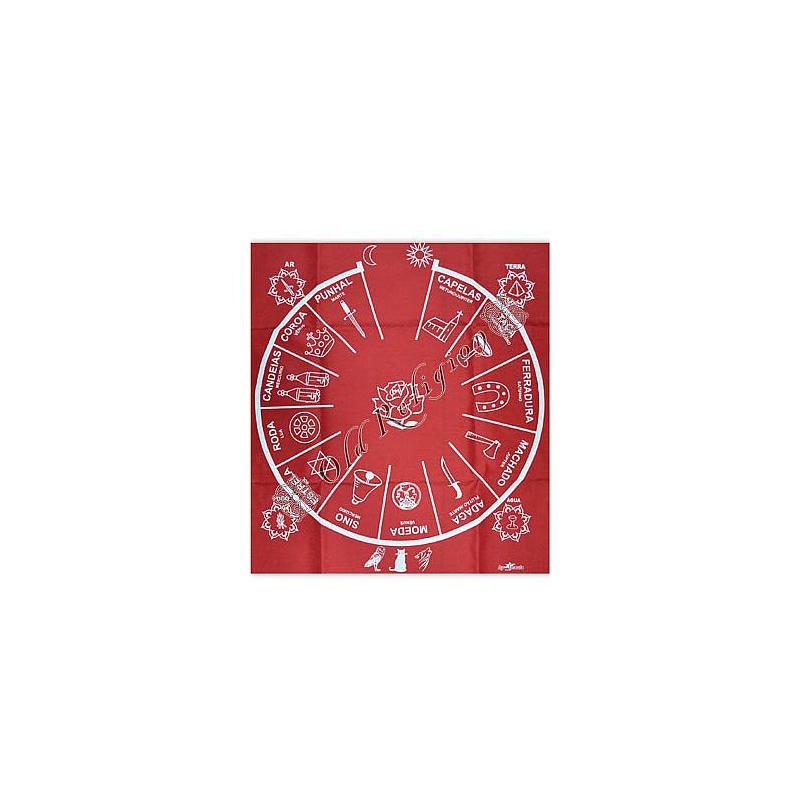 Toalha  para Altar e Baralho Cigano - Vermelha